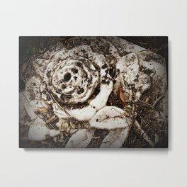 Skull rose of the dead Metal Print