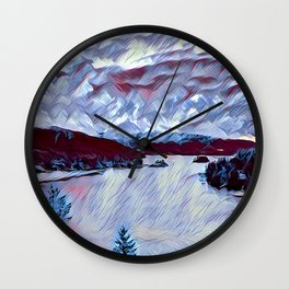 A Cloudy Day in the Bay Wall Clock