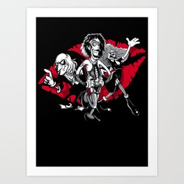 Rocky Horror Gang Art Print