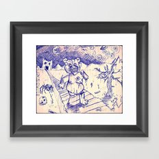 ZombieTeddy Framed Art Print