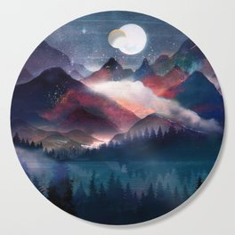 Mountain Lake Under the Stars Cutting Board