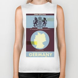 Germany vintage style travel cover. Biker Tank
