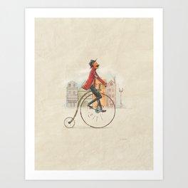 Old cycling Art Print