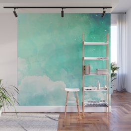 ABOVE THE SKY IN WATERCOLORS Wall Mural