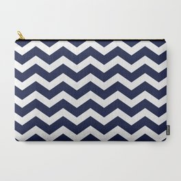 Chevron Navy Blue Carry-All Pouch