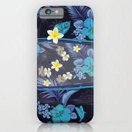 Blue Hawaiian Hibiscus and Plumeria iPhone Case