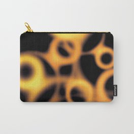 Soft Gold and Copper Floating Circles Carry-All Pouch
