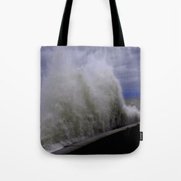 When Sandy Made Waves in Chicago #8 (Chicago Waves Collection) Tote Bag