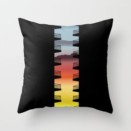 Life between the buildings Throw Pillow