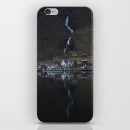 River that vanishes (Fjord) iPhone Skin