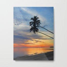 Rarotonga Sunset Metal Print