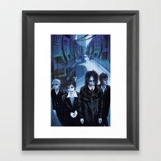 Blue Gathering Framed Art Print