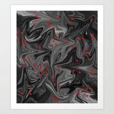 Oil Spill & Blood Droplets Art Print