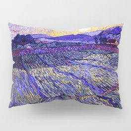 Lavender Fields with Rising Sun by Vincent van Gogh Pillow Sham