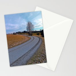 Country road into far distance | landscape photography Stationery Cards