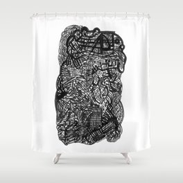 2 or 3 pens Shower Curtain