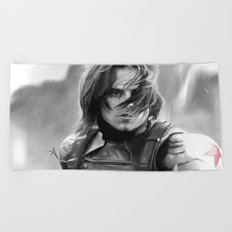 Winter Soldier/Bucky Barnes Beach Towel