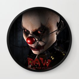 RAW - Send in the Clowns Wall Clock