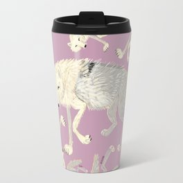 Wolves of The world: Artic Wolf (Canis lupus arctos) (c) 2017 Travel Mug