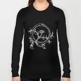 White Ouroborous  Long Sleeve T-shirt
