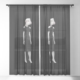 2050 Citizen Artwork Print Sheer Curtain