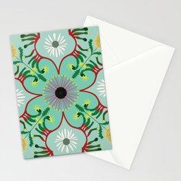 Mandala - Australian native plants Stationery Cards