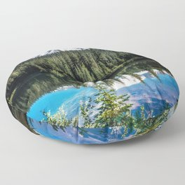 Mountain Lake Reflection 2017 Floor Pillow