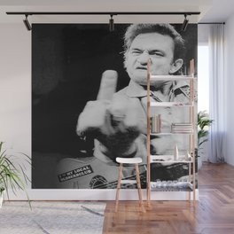 Johnny Cash Giving The Finger Singer Country Music Photo Vintage Poster Wall Decor Wall Mural