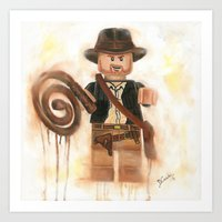 indiana jones Art Prints featuring Indiana Jones Lego by Toys 'R' Art