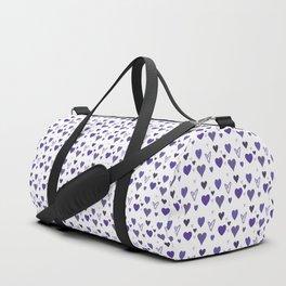Purple Heart Pattern Duffle Bag