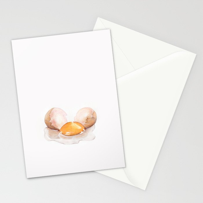 Color pencil Egg Stationery Cards