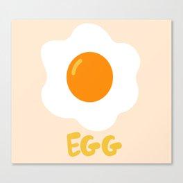 Egg orange Canvas Print