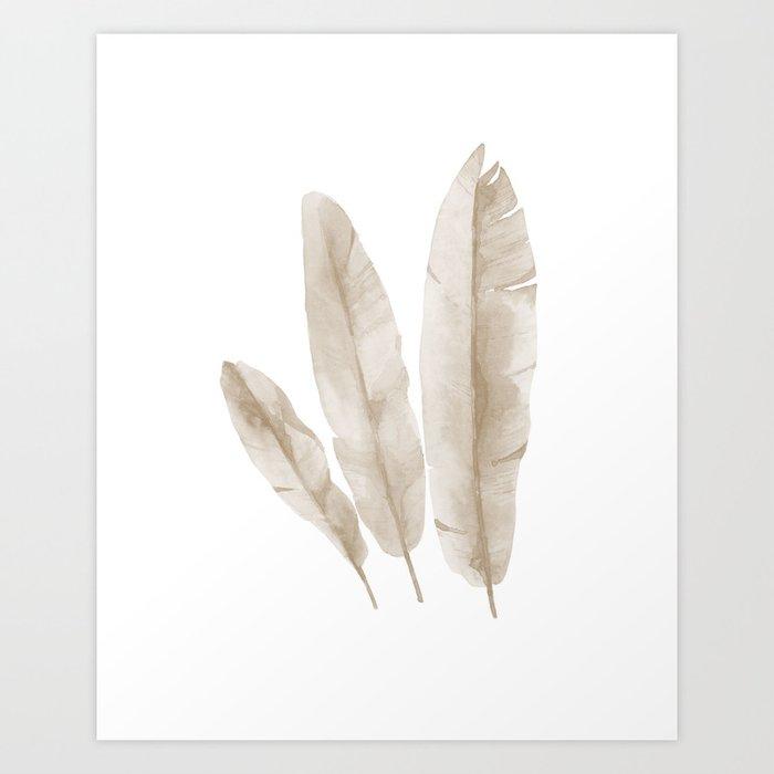 Entdecke jetzt das Motiv BEIGE TROPICAL LEAVES von Art by ASolo als Poster bei TOPPOSTER