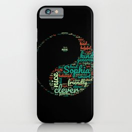 Name gift for Sophia qualities Ying Yang symbol iPhone Case
