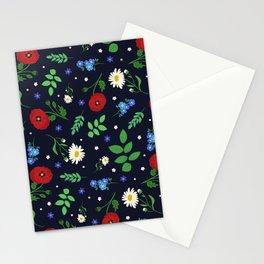 Swedish Folk Flowers Stationery Cards