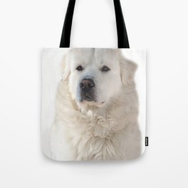 Great Pyrenees dog Tote Bag