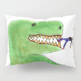 Dinosaur and Tiny Man Pillow Sham
