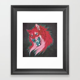 Ravewolf -Teal and Berry Framed Art Print