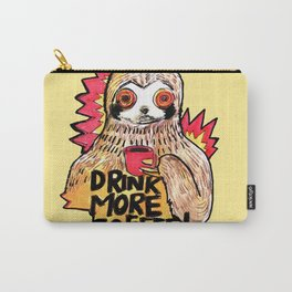 sloth drink more coffee Carry-All Pouch
