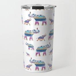 Elephant Tribal Pattern Travel Mug