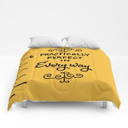 Practically perfect in every way mary poppins measuring tape..  Comforters