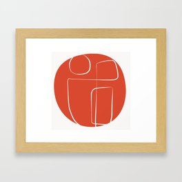 Sunny red line abstract Framed Art Print