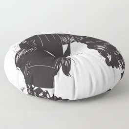 Yekaterina Petrovna Zamolodchikova Black&White Floor Pillow
