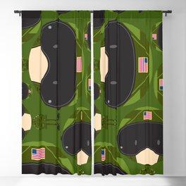 Cartoon Air Force Fighter Pilot Pattern Blackout Curtain
