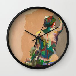 Girl's Back Wall Clock