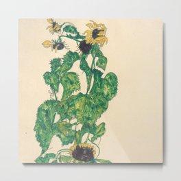 "Egon Schiele ""Sonnenblumen"" Metal Print"