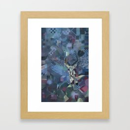 geometric forest Framed Art Print