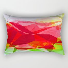 Red Rose Edges Abstract Polygons 1 Rectangular Pillow