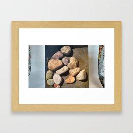High Contrast Rocks Framed Art Print