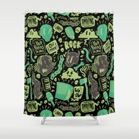 shit Shower Curtains featuring Shit, Rock! by Allan Ohr